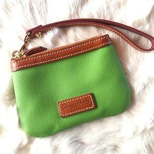 Dooney & Bourke Kelly Green Leather Wristlet